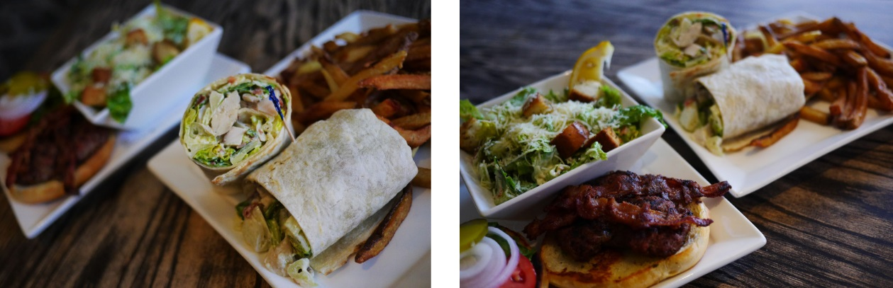 Burgers and wraps from the Loaf n Ale
