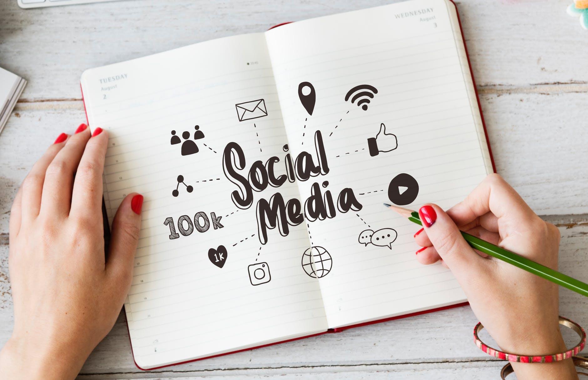 social media ideas notepad