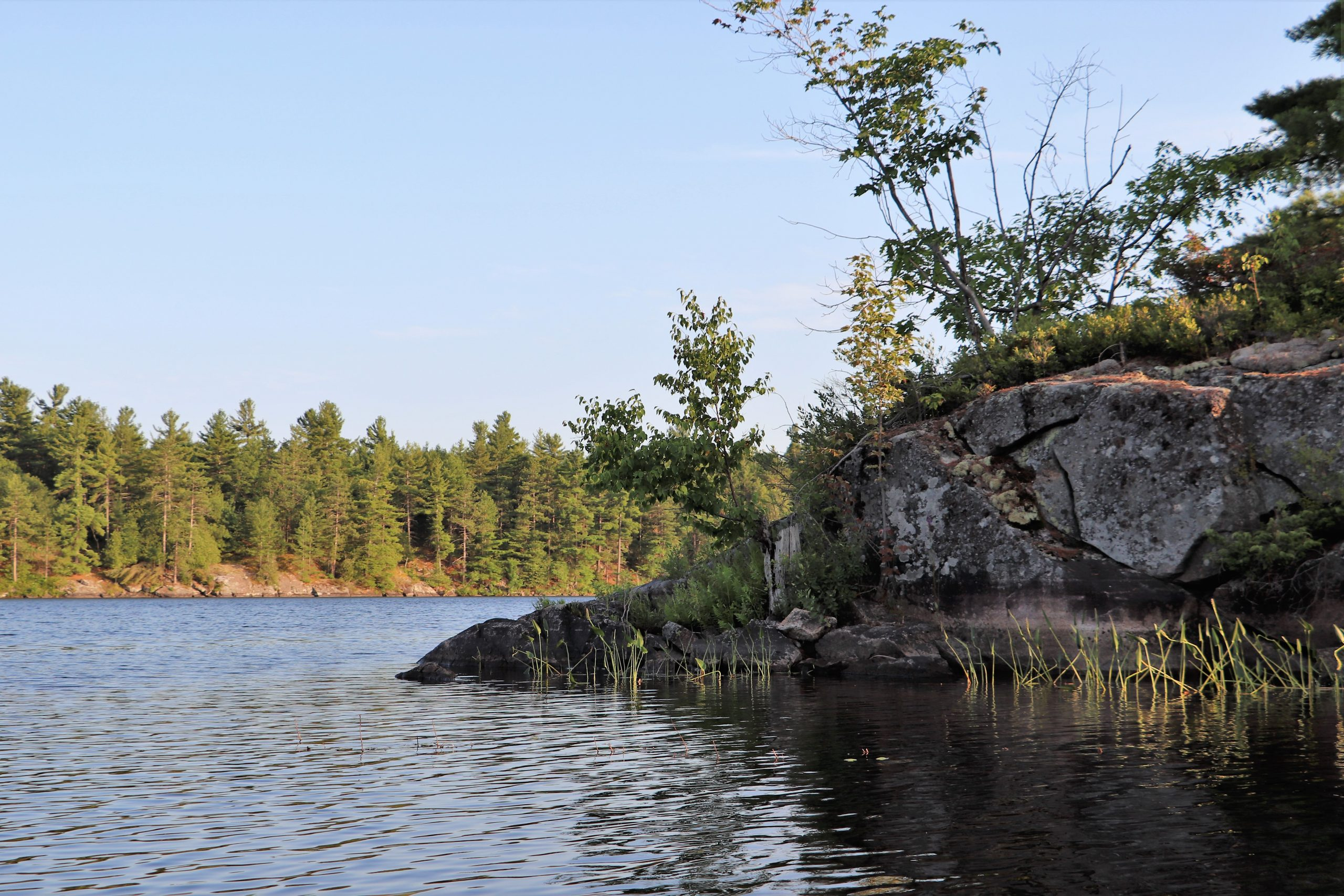 Granite Outcroppings on Big Mellon Lake