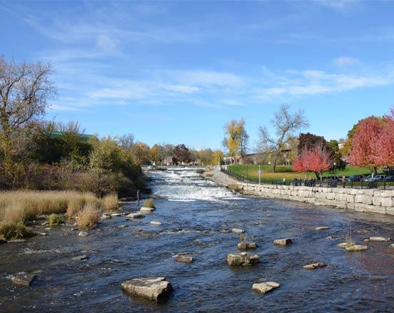 Springside Park Trail Falls