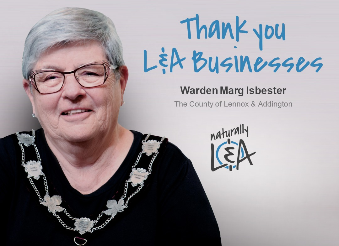 Thank you from Warden Isbester